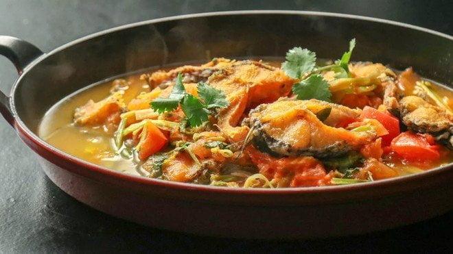 家常蔬菜鱼汤