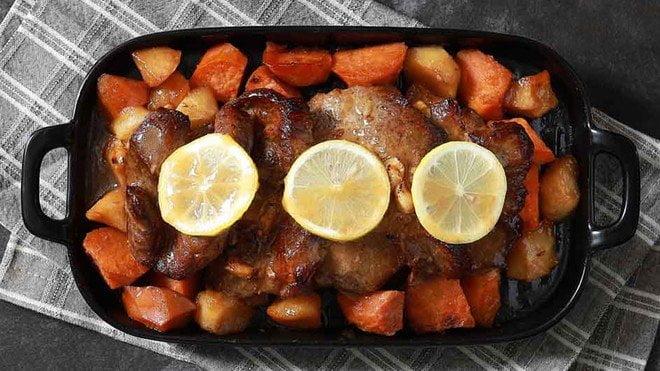 蘋果烤豬扒