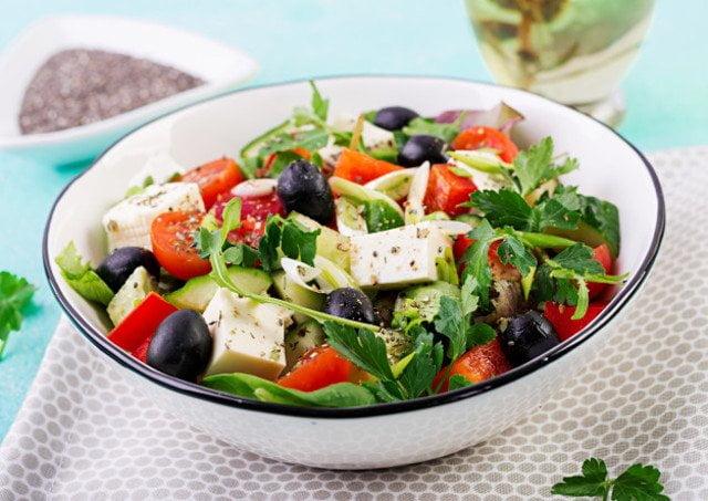 鹹香開胃的希臘沙拉