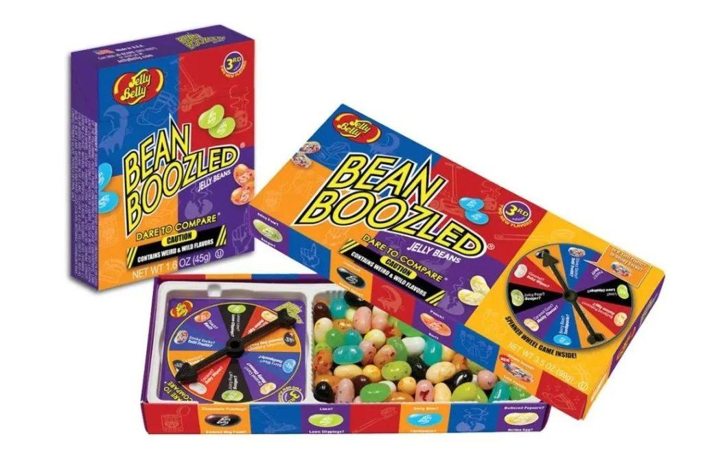 Bean Boozled的軟糖豆還附有小輪盤遊戲