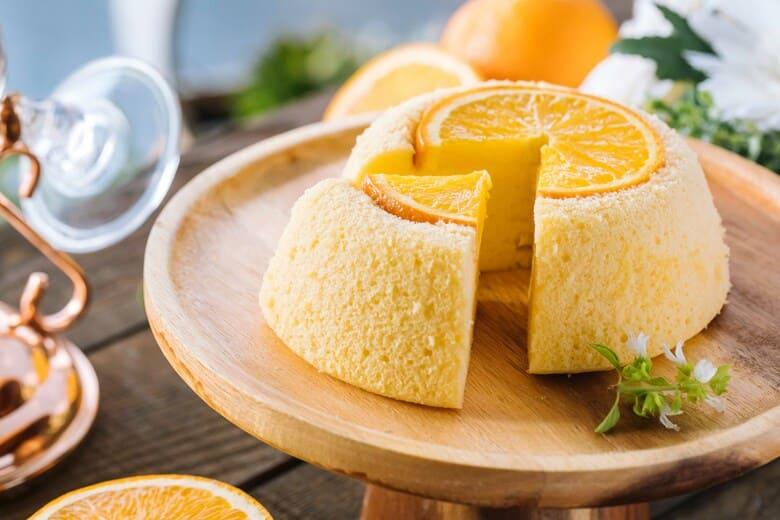 香橙蒸蛋糕 Steamed Orange Sponge Cake