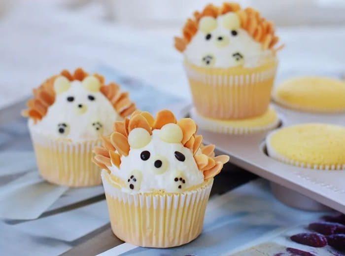 小刺猬杯子蛋糕 Little Hedgehog Cupcakes